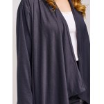 Collarless Asymmetric Duster Coat for sale