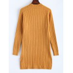 cheap Ribbed Long Knitted Sweater