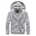cheap Zip Up Patch Hoodie Twinset
