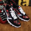 Colour Spliced Print Tie Up Athletic Shoes for sale