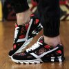 Colour Spliced Print Tie Up Athletic Shoes deal