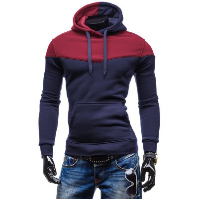 Kangaroo Pocket Color Block Hoodie