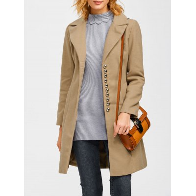 Single Breasted Casual Woolen Coat