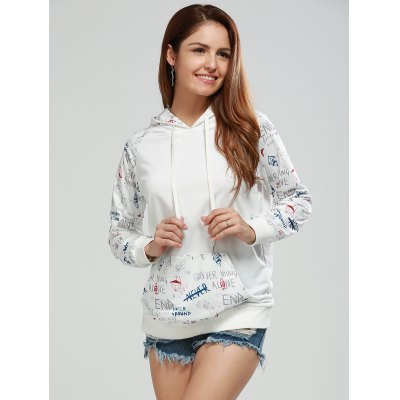 Letter Print Funny Hoodie