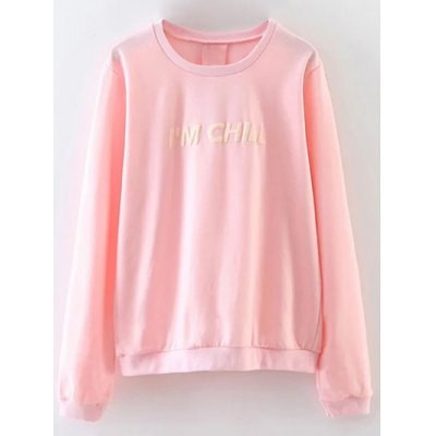 Chill Letter Loose Fitting Sweatshirt