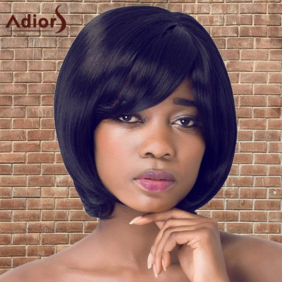 Adiors Short Bob Straight Side Bang Synthetic Wig