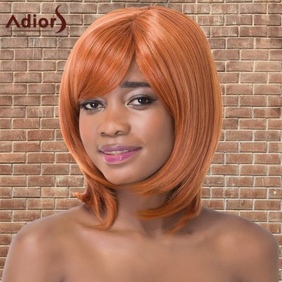 Adiors Medium Silky Straight Side Bang Synthetic Wig