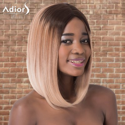 Adiors Medium Silky Straight Centre Parting Ombre Synthetic Wig