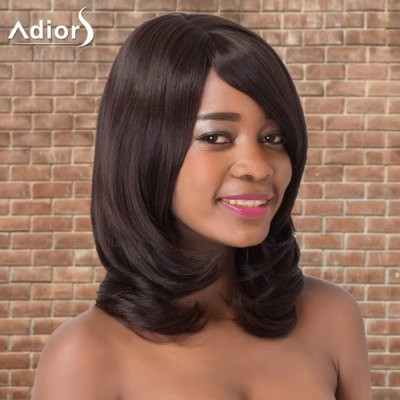 Adiors Long Straight Side Bang Tail Adduction Synthetic Wig