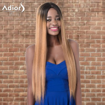 Adiors Ultra Long Ombre Centre Parting Straight Synthetic Wig