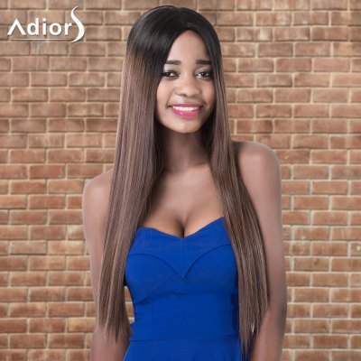 Adiors Ultra Long Ombre Middle Parting Straight Synthetic Wig
