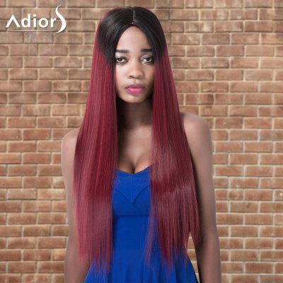 Adiors Long Straight Ombre Centre Parting Synthetic Wig