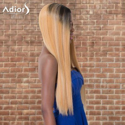 Adiors Long Straight Ombre Middle Parting Synthetic Wig Corona Продать вещи