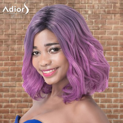 Adiors Medium Layered Wavy Colormix Side Parting Synthetic Wig