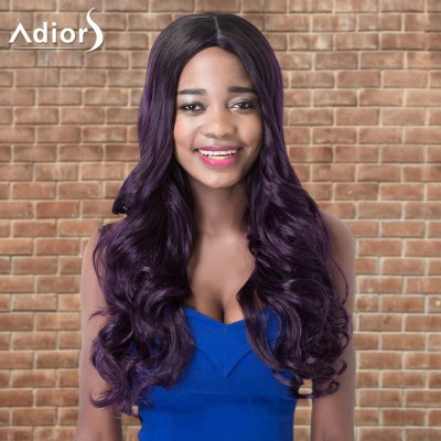 Adiors Long Wavy Side Parting Highlight Synthetic Wig