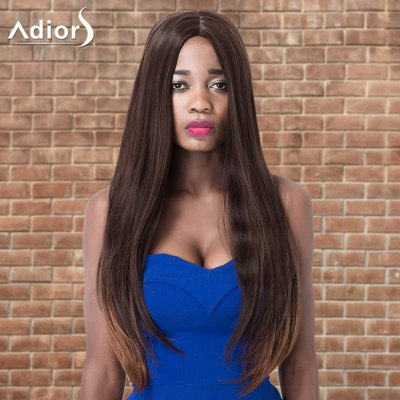 Adiors Long Centre Parting Straight Colormix Synthetic Wig