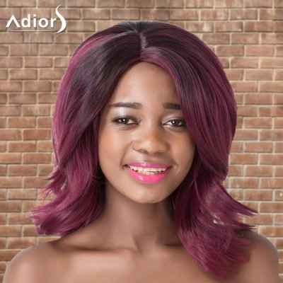 Adiors Medium Side Parting Wavy Colormix Synthetic Wig