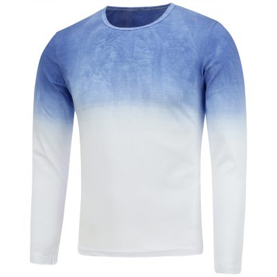Round Neck Ombre T-Shirt