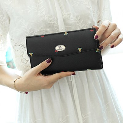 Printed PU Leather Clutch WalletWomens Wallets<br>Printed PU Leather Clutch Wallet<br><br>Wallets Type: Clutch Wallets<br>Gender: For Women<br>Style: Fashion<br>Closure Type: Snap Closure<br>Pattern Type: Print<br>Main Material: PU<br>Length: 20CM<br>Width: 1CM<br>Height: 11CM<br>Weight: 0.320kg<br>Package Contents: 1 x Wallet