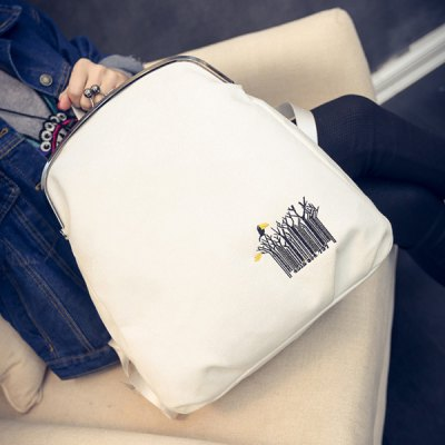 Kiss Lock Closure Embroidery Canvas BackpackWomens Bags<br>Kiss Lock Closure Embroidery Canvas Backpack<br><br>Handbag Type: Backpack<br>Style: Casual<br>Gender: For Women<br>Embellishment: Embroidery<br>Pattern Type: Animal Prints<br>Handbag Size: Medium(30-50cm)<br>Closure Type: No Zipper<br>Occasion: Versatile<br>Main Material: Canvas<br>Hardness: Soft<br>Weight: 1.200kg<br>Size(CM)(L*W*H): 32*12*10<br>Strap Length: 70CM (Adjustable)<br>Package Contents: 1 x Backpack