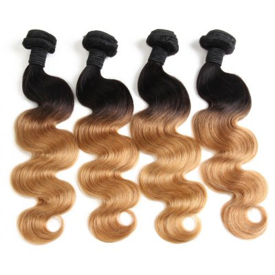 1 Pcs Body Wave 6A Virgin Ombre Color Brazilian Hair Weave