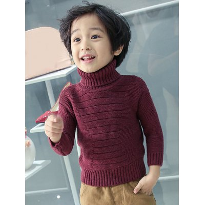 Boys Roll Neck Pullover Sweater