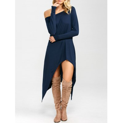 High Low Convertible Off The Shoulder Dress