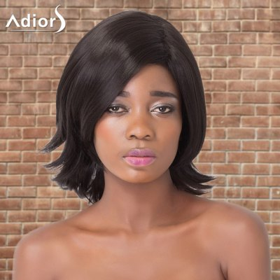 Adiors Medium Straight Side Parting Tail Upwards Synthetic Wig