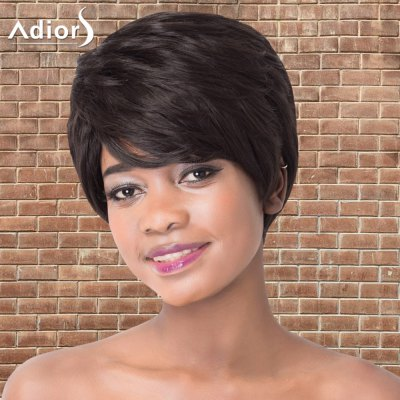 Refreshing Short Side Bang Straight Synthetic Adiors Wig