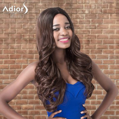 Adiors Long Shaggy Wavy Middle Parting Synthetic Wig
