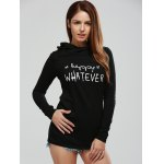 cheap Long Sleeve Letter Print Graphic Hoodie