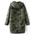 cheap Hooded Camo Quilted Coat