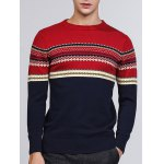Tribal Pattern Crew Neck Pullover Sweater