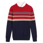 Tribal Pattern Crew Neck Pullover Sweater for sale
