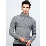 cheap Turtleneck Ribbed Pullover Sweater