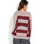 Drop Shoulder Striped Sweater for sale