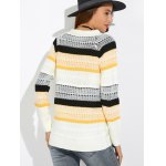 Textured Raglan Sleeve Striped Sweater for sale