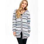 cheap Active Christmas Snowflake Knit Hoodie