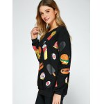 All Over Food Printed Funny Sweatshirt deal