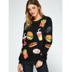 cheap All Over Food Printed Funny Sweatshirt