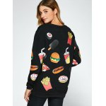 All Over Food Printed Funny Sweatshirt for sale