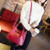 cheap Quilted Metal Textured Leather Tote Bag