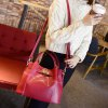 best Quilted Metal Textured Leather Tote Bag