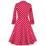 Bowknot Polka Dot Insert Swing Dress deal