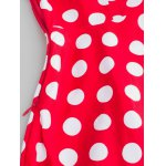 Bowknot Polka Dot Insert Swing Dress photo