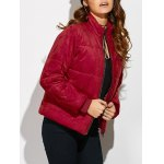 Padded Faux Suede Jacket