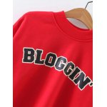 BLOGGING Letter Cropped Sweatshirt deal