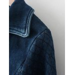 Faded Zipper Cropped Denim Jacket for sale