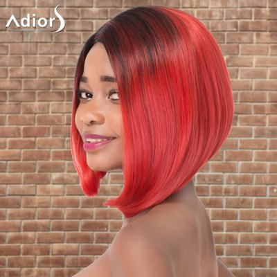 Adiors Short Asymmetry Ombre Side Parting Straight Tail Adduction Cosplay Synthetic WigCosplay Wigs<br>Adiors Short Asymmetry Ombre Side Parting Straight Tail Adduction Cosplay Synthetic Wig<br><br>Type: Full Wigs<br>Style: Straight<br>Material: Synthetic Hair<br>Bang Type: Side<br>Length: Short<br>Length Size(CM): 28<br>Weight: 0.220kg<br>Package Contents: 1 x Wig