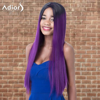 Adiors Long Side Parting Straight Cosplay Synthetic Wig